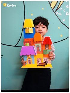 Klein (7세) 수업 - 이웃을 소개합니다~! [시흥시 정왕동 배곧 미술학원 - 창의미술 크리아트] : 네이버 블로그 Kindergarten Art Projects, School Projects, Projects For Kids, Crafts For Kids, Arts And Crafts, 3d Paper Art, Crafty Kids, Art Plastique, Art School