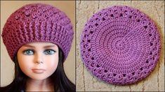 Берет крючком | Как связать берет крючком Bonnet Crochet, Crochet Beret, Crochet Cap, Form Crochet, Crochet Collar, Crochet Baby Hats, Crochet Motif, Knitted Hats, Crochet Doilies
