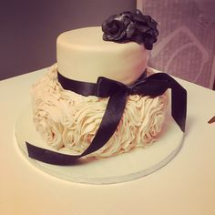 Ruffle rose, glam birthday cake.