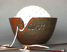 yarn bowls will give you a beautiful place to store your yarn balls while you practice your needle craft. They will keep those balls from rolling all over the place too!
