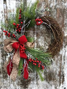winter christmas wreath for door red and white holiday wreath country christmas wreath