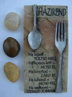 Home - Pistike viccújság Wood Stone, Kitchen Dining, Dining Room, Fun Facts, Diy And Crafts, Wall Decor, Tableware, Home, Quotes
