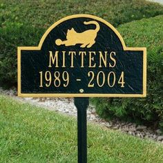 Personalized Two Line Pet Cat Mini Arch Lawn Marker from Personalized Products by Whitehall