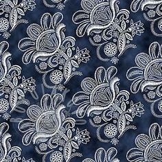 CEYLON Paisley floral toile navy Paisley, Tapestry, Navy, Floral, Toile, Hanging Tapestry, Hale Navy, Tapestries, Flowers