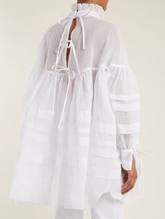 Click here to buy Cecilie Bahnsen Alberte oversized cotton top at MATCHESFASHION.COM