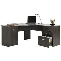Enjoy ample desktop space and plenty of storage with the Merge Corner Workstation.