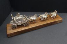 Dutch silver miniature of Golden Carriage, Hooijkaas, Schoonhoven, 1969