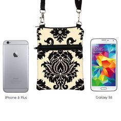 Small Cross Body Bag Fits iPhone 8 Plus Shoulder Bag Samsung