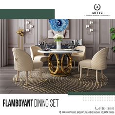 Tired of the mundane dining room set-up?  Artyz brings to you top-notch dining sets to add zeal to your meals!  #diningtables #interiors #interiordesign #interiordesigninspiration #livingroomideas #Artyz 6 Seater Dining Table, Custom Dining Tables, Modern Dining Table, Dining Sets, Dining Room, Room Set, Interior Design Inspiration, Furnitures, Tired