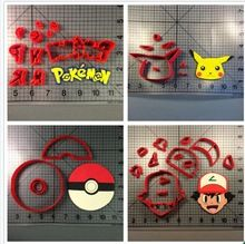 Sports Pokemon ball Logo Fondant Cake Decorating Tools Made 3D Printed Cookie Cutter Set * View this trendy piece in details on  AliExpress.com. Just click the image. #dietmealplans