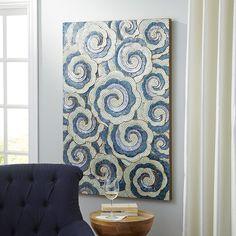 Indigo Swirls Wall Panel | Pier 1 Imports