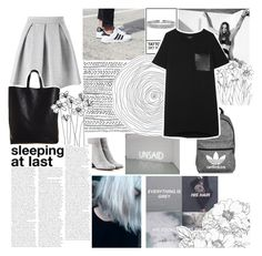 """""""Everything is Gray"""" by sarahs884 ❤ liked on Polyvore featuring adidas, Bling Jewelry, Gianvito Rossi, Miss Selfridge, rag & bone, CÉLINE, grey, halsey and templeteused"""