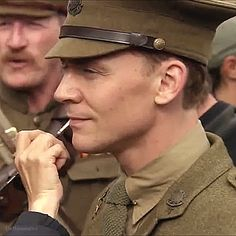 """Tom, I saw him in a couple of smaller parts in films and thought he was kind of a reincarnation of Errol Flynn, and thought wouldn't it be great to have the first person that purchases Joey from the father be this sort of dashing, classic British hero.""  ~ Steven Spielberg (Gif by thehumming6ird: http://maryxglz.tumblr.com/post/163169293777/thehumming6ird-tom-i-saw-him-in-a-couple-of )"