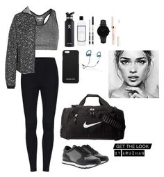 """""""let me love you"""" by maksatkyzyy on Polyvore featuring мода, Topshop, NIKE, DKNY, Hydro Flask, MICHAEL Michael Kors, The Laundress, Eyeko, Beats by Dr. Dre и CLUSE"""
