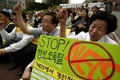 Human Rights Activists in South Korea start Hunger Strike against National Education Information System (NEIS)