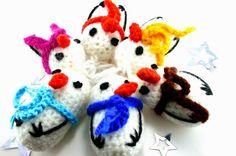 Catch in Sky DIY-Blog: Häkelanleitung Schneemann, crochet pattern free