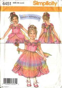 Simplicity Sewing Pattern 4451 Girls Sizes 3-6 Daisy Kingdom Formal Dress Ruffles Bows  Flower Girl Dress?  $9.99