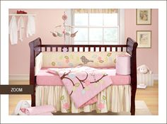 Love this for a little girl. yellow walls with pink accents #nursery