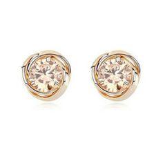 Amore Stud Earrings. Rp 80,000 or $8. Yellow Zirconia. Measurement: 1.2 x 1.2 cm. www.reginagarde.com