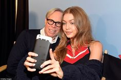 Say cheese! Gigi and Tommy later posed for a fun selfie