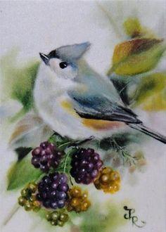 "Daily Paintworks - ""Blackberry Candies - ACEO"" - Original Fine Art for Sale - © Paulie Rollins"
