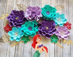 [DIY and crafts]Mermaid Birthday Party decorations disney princess Princess Birthday Party Decorations, Mermaid Theme Birthday, Little Mermaid Birthday, Little Mermaid Parties, The Little Mermaid, Birthday Party Themes, Mermaid Diy, Ariel Mermaid, Mermaid Baby Showers