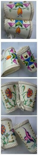 Parfleche cuffs, n.d., possibly contemporary.
