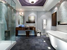 HGTV Loft Ideas   Create modern bathrooms with design ideas that add functional and ...