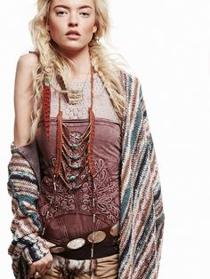 Blonde tribal braid