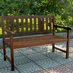 International Caravan Acacia Wood 49-inch Bench - Overstock™ Shopping - Great Deals on International Caravan Outdoor Benches