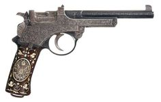 Pistol that belonged to Sultan Abdulhamid II (1876-1909). Late Ottoman,1901.