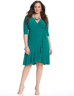 Whimsy wrap dress by Kiyonna Xl Fashion, Curvy Fashion, African Fashion, Plus Size Fashion, Fashion Dresses, Dresses For Teens, Plus Size Dresses, Plus Size Outfits, 2015 Dresses
