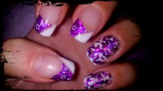 White gel and purple foil