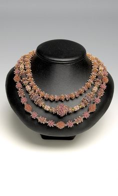 Triple-Strand Necklace with Seed Beads