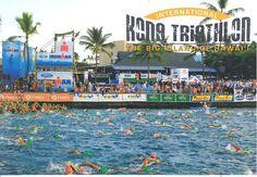 Kona, Hawaii is host to the annual Ironman World Championship, one of the worlds most physically and mentally demanding triathlons. Kona Ironman, Surfing Tips, Kona Hawaii, Physically And Mentally, Iron Man, Hawaiian, Bucket, Swimming, Motivation