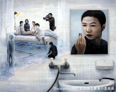 Tetsuya Ishida (石田 徹也 1973~2005) Japanese Modern, Max Ernst, Art Thou, Unusual Art, Magritte, Traditional Paintings, Surreal Art, Caricature, The Darkest