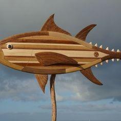 Bluefin Tuna  - made by: paul jansen -www.totempauljansen.nl - Fish - art - wood - sculpture