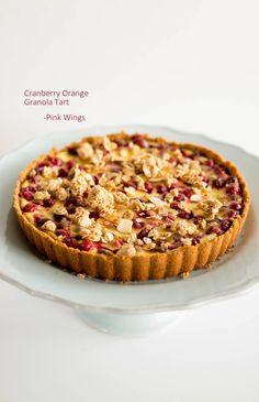 Cranberry Orange Granola Tart  #LoveMyCereal #QuakerUp #spon #recipe #tart @walmart