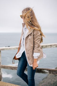 Gal Meets Glam Misty Views - Old Navy jacket & shirt, tee & jeans c/o