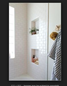 Shower Recessed Shelves Recessed Shelves For Tile Shower A Comfy Best Recessed Shower Shelf Ideas On Cleaning Recessed Shower Shelf Insert Uk Upstairs Bathrooms, Small Bathroom, Master Bathroom, Bathroom Ideas, Shower Ideas, Bathroom Colors, White Bathrooms, Bathroom Niche, Bathroom Vintage