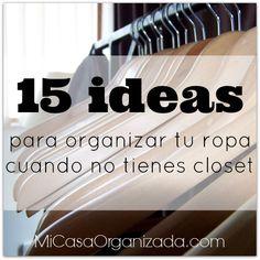 Una de las formas más rápidas y efectivas de eliminar estrés de nuestra vida es manteniendo nuestra ropa bien organizada.  Por qué? Bueno porque lidiamos con ella todos los días de la vida. S...