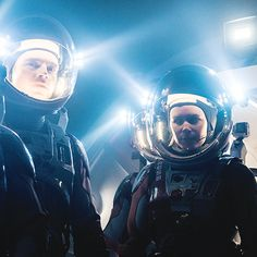 katemarasource: A production still from The Martian including Sebastian Stan as Dr. Chris Beck and Kate Mara as Beth Johanssen.