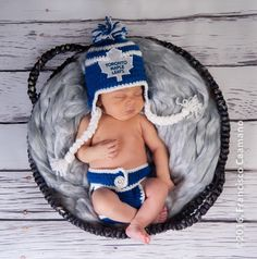 Toronto Maple Leafs Crochet Hat with NHL Patch and Hockey Diaper Cover Set Photo Prop by KaileighKrafts on Etsy https://www.etsy.com/listing/264170329/toronto-maple-leafs-crochet-hat-with-nhl
