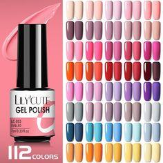 Gel Polish Colors, Uv Gel Nail Polish, Uv Gel Nails, Gel Nail Art, Led Nail Lamp, Bright Nails, Pink Nails, Soak Off Gel Nails