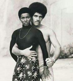 Gloria Hendry and Jim Kelly - American actor and martial artist Jim Kelly and actor Gloria Hendry in the film Black Belt Jones1974 #sport #movie #actor