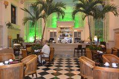 The lovely bar area at the Hotel Saratoga, Havana, Cuba.