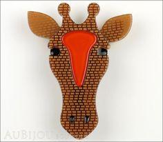 Erstwilder Brooch Pin Geoffrey Giraffe Front