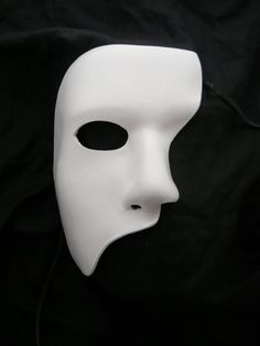 White Leather Mask Phantom of the Opera Stage by kelldragon.