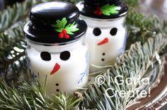 I Gotta Create!: snowmen jars