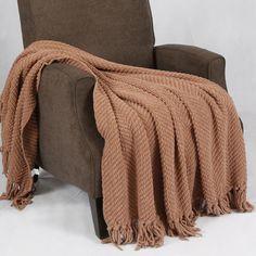 BNF Home Tweed Knitted Throw Blanket & Reviews | Wayfair
